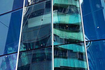 Reflexion der WTC-Türme im Hauptbahnhof von Arnheim von Anne Ponsen
