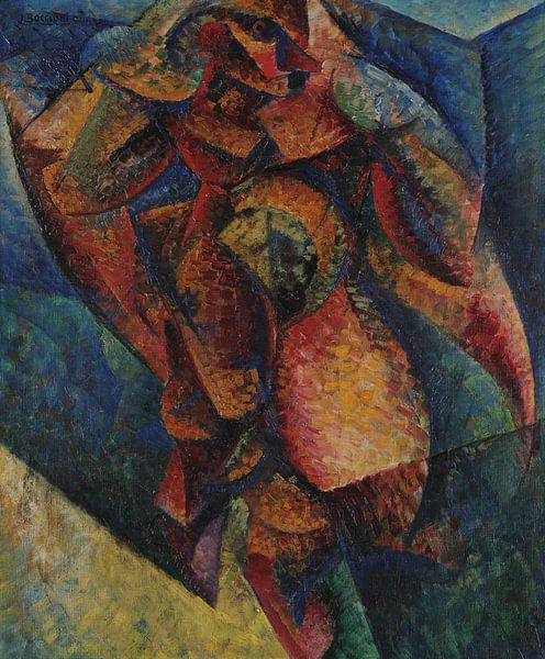 Umberto Boccioni Menschlicher Körper (Dynamik) von finemasterpiece