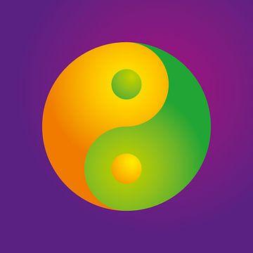 Colorful YinYang Symbol van Jörg Hausmann