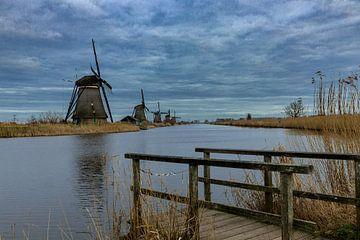 Windmühlen von Kinderdijk von Dokra Fotografie