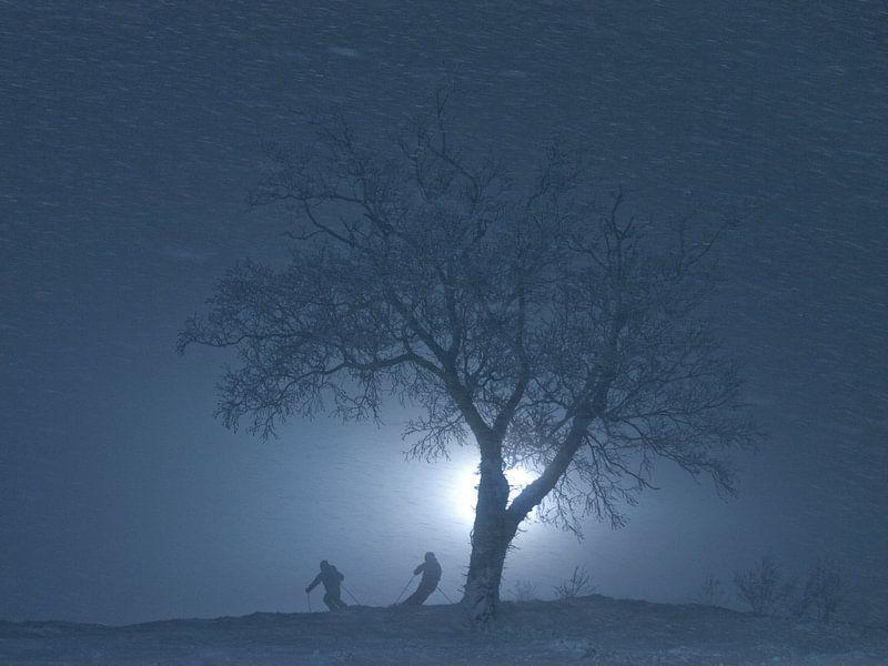 Nachtskiën in Japan van Menno Boermans