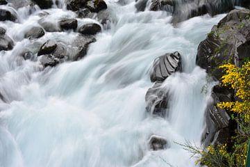 Stromende rivier in Puerto Varas, Chilli van Bianca Fortuin