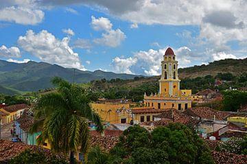 Blick über die Stadt Trinidad, Kuba von Herman Keizer