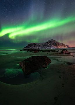 Les aurores boréales sur Melvin Jonker