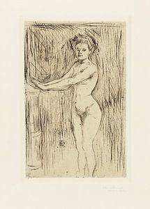 Weibliches Modell wärmt ihre Hände, EDVARD MUNCH, 1896