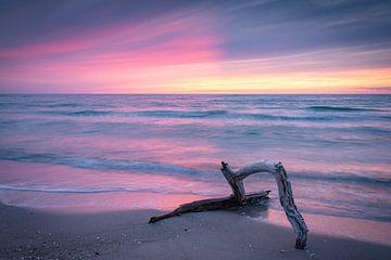 Sonnenuntergang am Weststrand von Martin Wasilewski