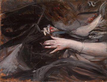 Damenhände beim Nähen, Giovanni Boldini