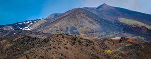 Vulkanisch landschap bij de Etna, Sicilië. van