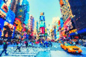 New York City  Quadrat Game Pop Art van