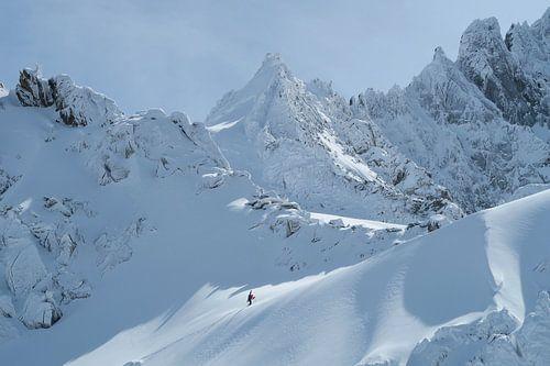 Winter Bergsteiger Chamonix von Menno Boermans