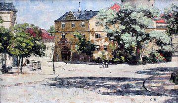 Burgplatz am Schloss in Weimar anagoria, Christian Rohlfs - 1885