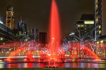 Hofplein fontein Rotterdam van