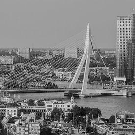 Skyline von Rotterdam s/w sur John Ouwens