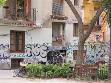 Street art Valencia van Maja van Eijndthoven