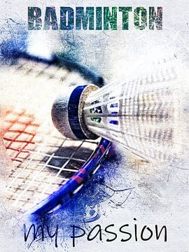 badminton van Printed Artings
