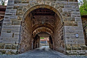 Porte historique de Rothenburg ob der Tauber sur Roith Fotografie