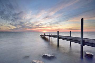 Gerüste bei Sonnenaufgang von John Leeninga