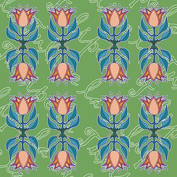 La Tulipe dans sa texte sur Marijke Mulder