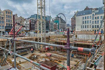 Bouwproject in het Centrum van Amsterdam. van Don Fonzarelli