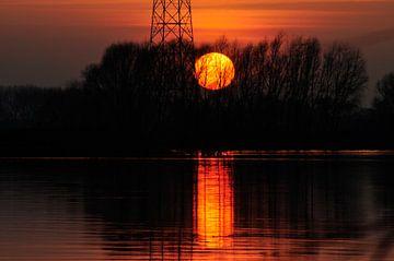 Sunset van Ronald en Ancil Fotografie