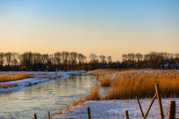 winterlandschap in Buren van Tania Perneel