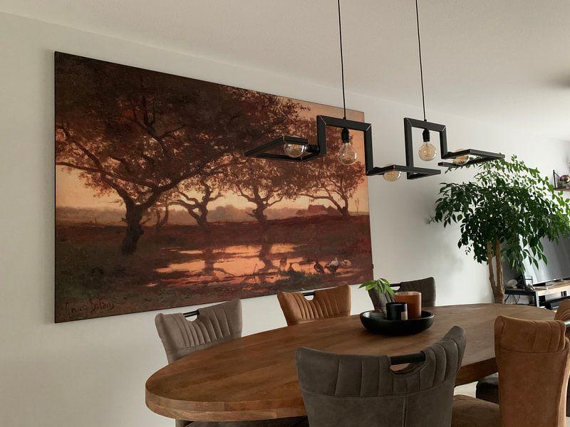Kundenfoto: Waldteich bei Sonnenuntergang, Gerard Bilders, als akustikbild