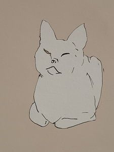 Schets van een kat van Paul