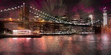 City-Art Brooklyn Bridge sur Melanie Viola