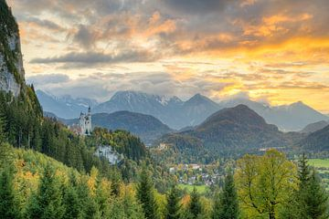 Herfst in Allgäu van Michael Valjak