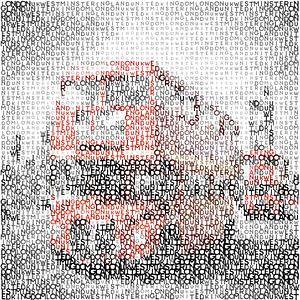 Typografie kunst | LONDON-Westminster Bridge bussen