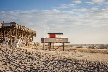 Westelijk strand van Kampen, Sylt van Christian Müringer