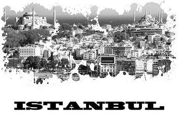 Istanbul van Printed Artings