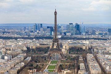 Eiffeltoren Parijs vanaf de Montparnasse toren van Dennis van de Water
