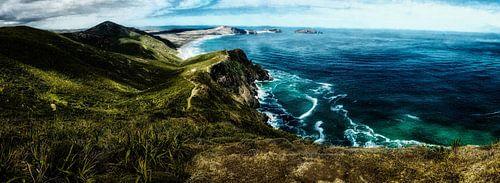 Landschap door de zee