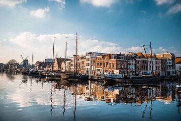 Reflectie spel, Galgewater te Leiden van Iris Zoutendijk