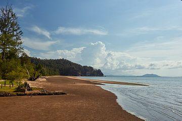 Het strand van Bako National Park, Borneo van