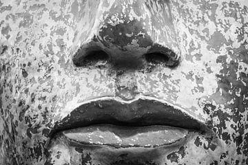 Masker in zwart wit van Clazien Boot
