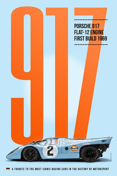 Gulf-Porsche 917 von Theodor Decker