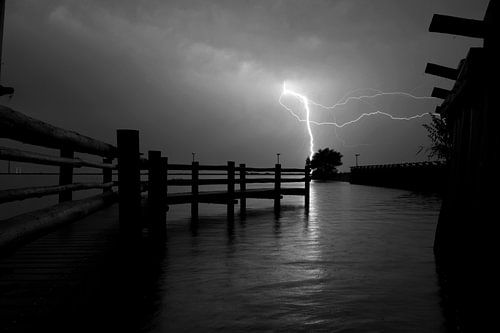 Onweer boven de Palendijk