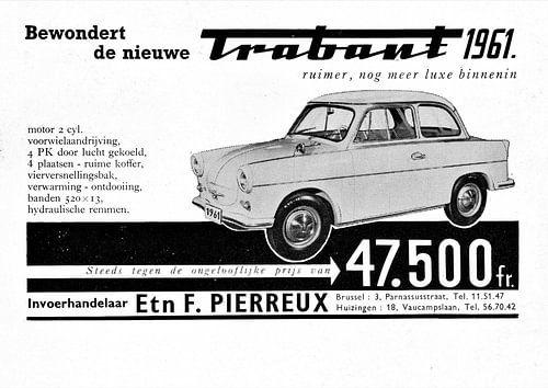 Belgische Trabant Werbung 1961 von Natasja Tollenaar