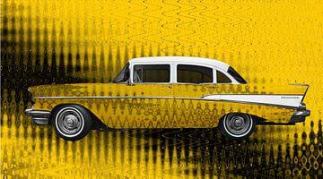 Chevrolet Bel Air 1957 Kunstauto in volledig geel van aRi F. Huber