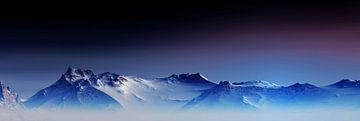 Besneeuwde bergen van Angel Estevez