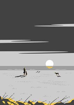 Le gris soleil couchant sur Rene Hamann