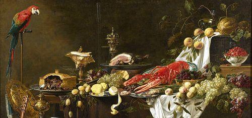 Pronkstilleven (uitsnede), Adriaen van Utrecht von Meesterlijcke Meesters