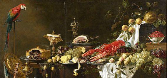 Pronkstilleven (uitsnede), Adriaen van Utrecht van Meesterlijcke Meesters