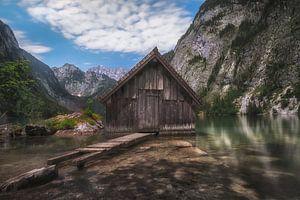 Boothuisje in de Alpen van Maikel Brands