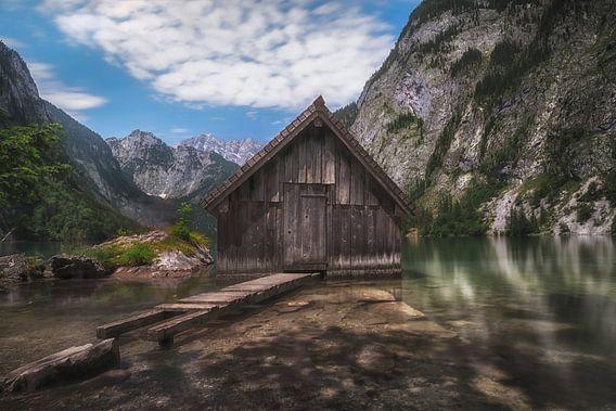 Boothuisje in de Alpen
