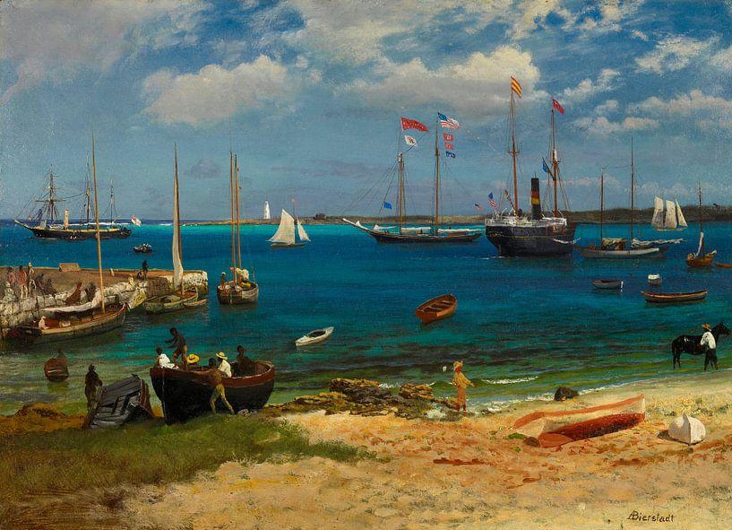 Nassauischer Hafen, Albert Bierstadt von Meesterlijcke Meesters