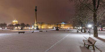 Winter in Stuttgart van Werner Dieterich