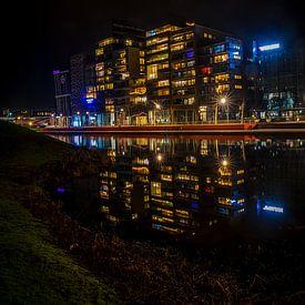 Quai du parc d'argent de Lelystad sur Gerard Koster Joenje (Vlieland, Amsterdam & Lelystad in beeld)